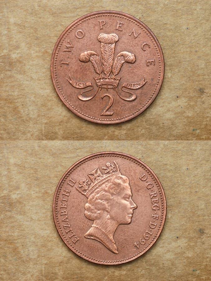 Van reeks: muntstukken van wereld royalty-vrije stock foto