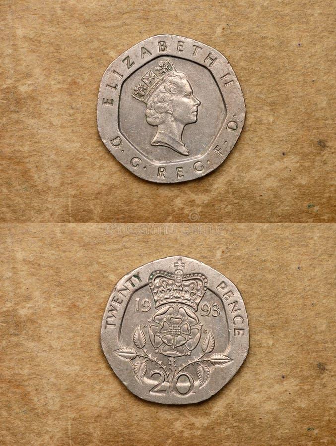 Van reeks: muntstukken van wereld. Engeland. royalty-vrije stock afbeelding