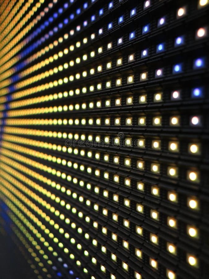 Van RGB LEIDENE de textuur het schermpaneel stock afbeelding