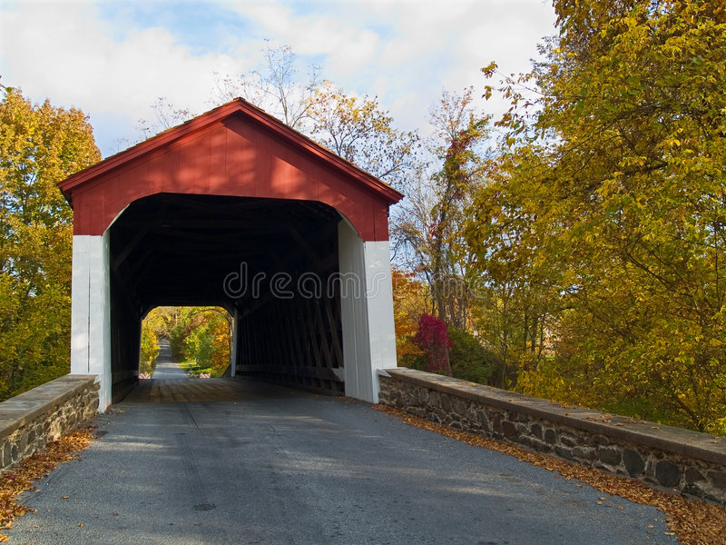 Van Sant Covered Bridge stock image