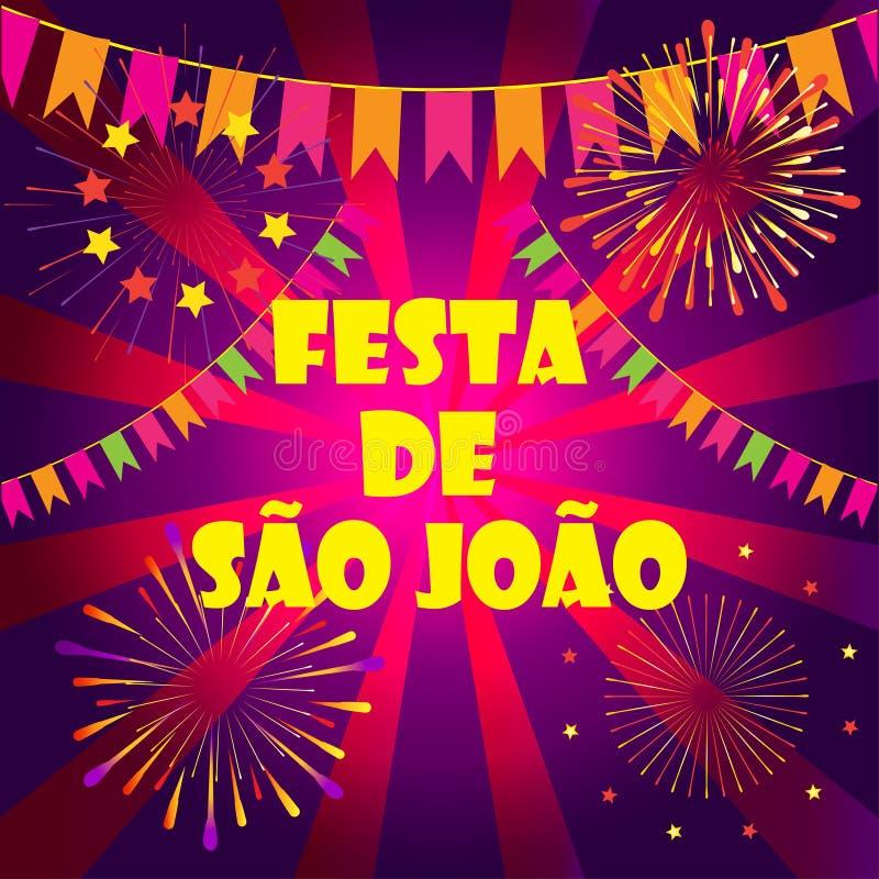 Van Saojoalo Carnaval Brazilië van Festajunina het Festival Porto royalty-vrije illustratie