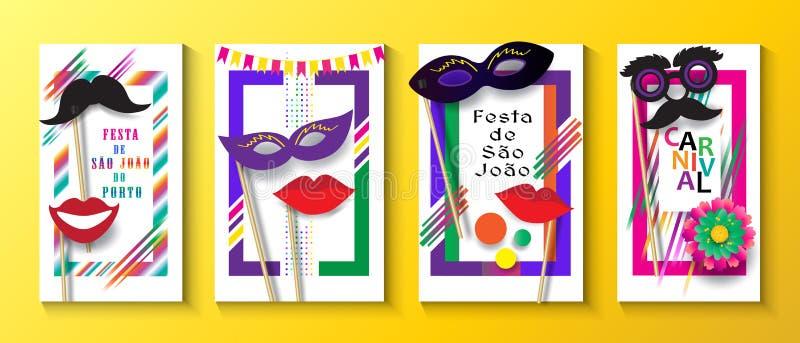 Van Saojoalo Carnaval Brazilië van Festajunina het Festival Porto stock illustratie