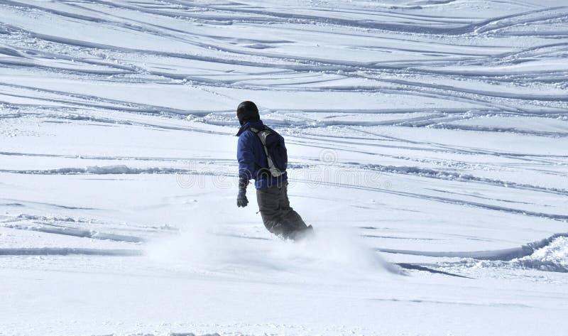 Van sleep het snowboarding royalty-vrije stock afbeeldingen