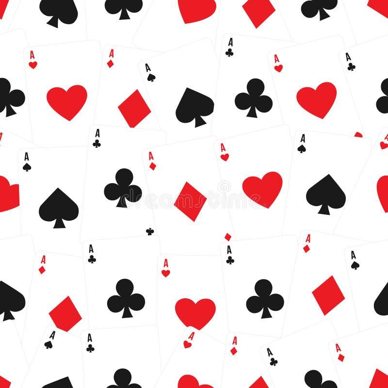 Van speelkaarten naadloos patroon als achtergrond royalty-vrije illustratie