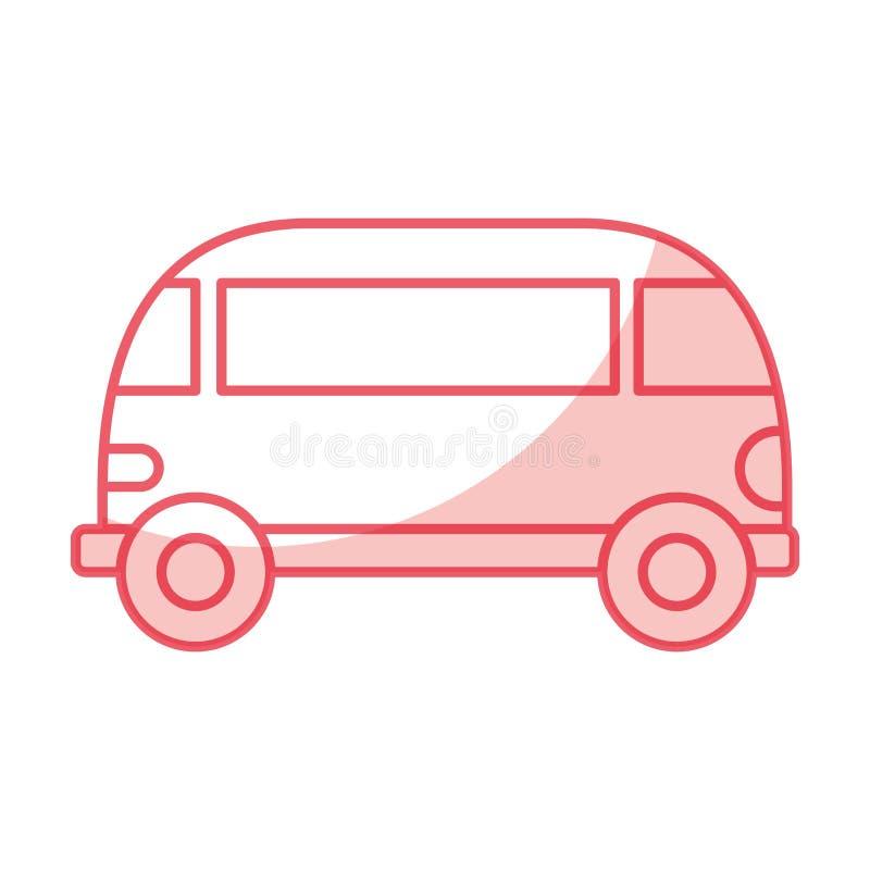 Van style hippie icon. Vector illustration design stock illustration