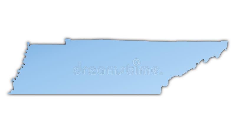 Van Tennessee (de V.S.) De Kaart Stock Afbeelding