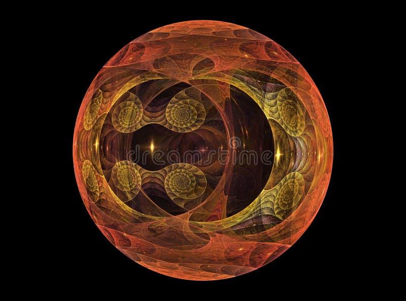 Van Textureb het ?glas? chrystal bal royalty-vrije illustratie