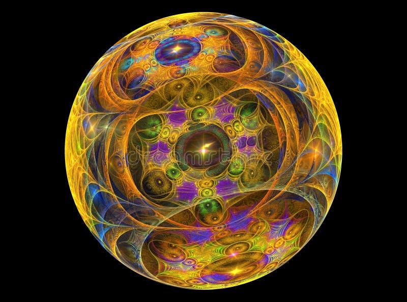 Van Textureb het ?glas? chrystal bal vector illustratie