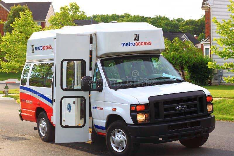 Van Transporting Handicaps royalty-vrije stock foto's