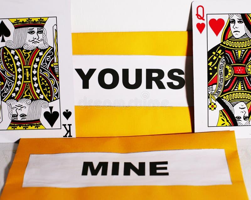 Van u en Mijn royalty-vrije stock afbeeldingen
