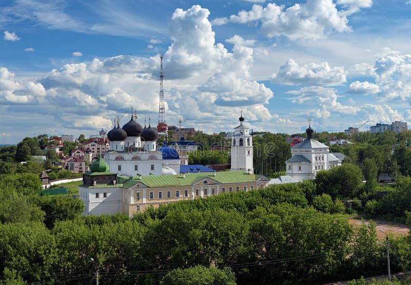 Van Uspensky (Veronderstelling) het klooster Trifonov in Kirov stock fotografie