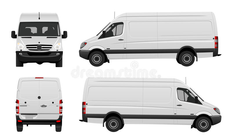 Van vector blanc illustration stock