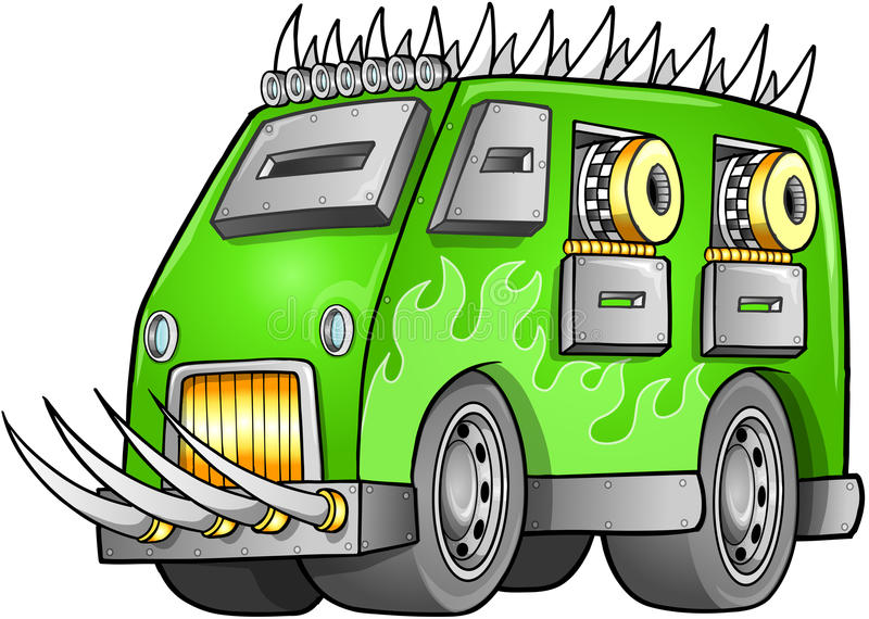 Van Vehicle apocalíptico ilustración del vector