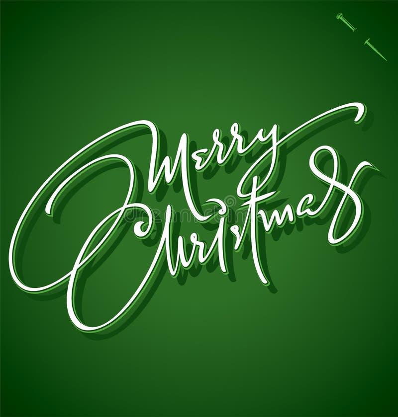 Van ?vrolijke Kerstmis? de hand het van letters voorzien (vector) royalty-vrije illustratie
