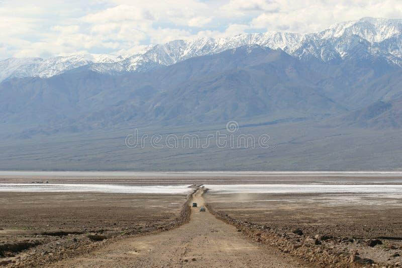Van Woestijn aan Bergen in de Vallei van de Dood royalty-vrije stock foto's