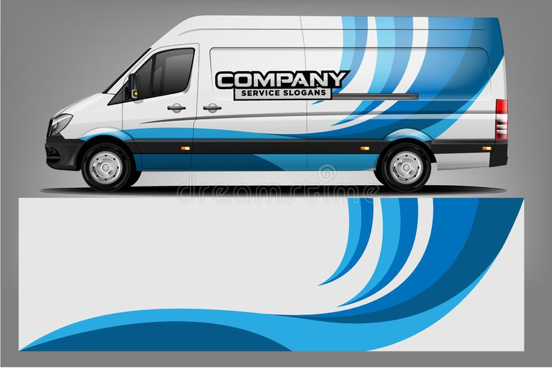 Van wrap design. Wrap, sticker and decal design. For company. Vector format stock illustration