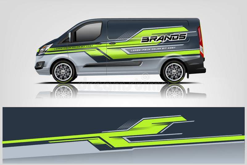 Van Wrap Livery design. eps 10.vector royalty free illustration