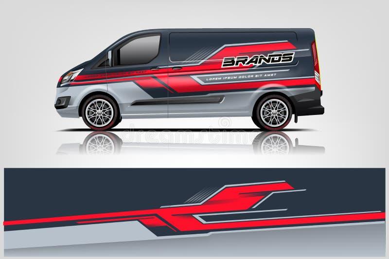 Van Wrap Livery design. eps 10.vector stock illustration