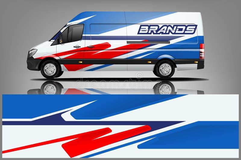 Van Wrap Livery-ontwerp Het klaar ontwerp van de drukomslag voor Bestelwagen - Het vector royalty-vrije illustratie