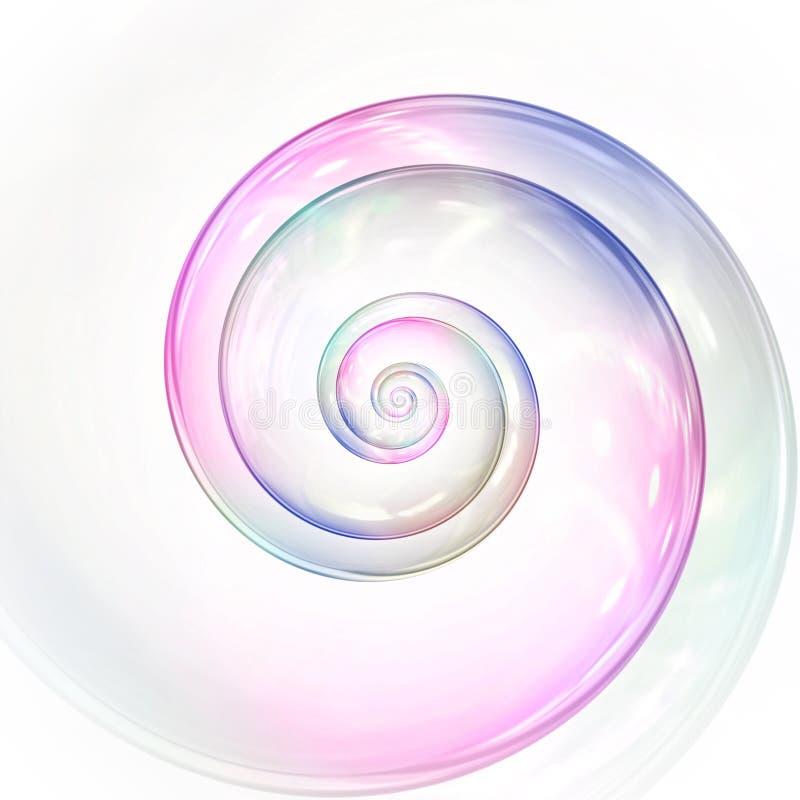 van zeepbelkleuren spiraalvormige illustratie als achtergrond stock illustratie