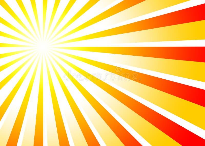Van zonnestralen rode sinaasappel als achtergrond 01 vector illustratie