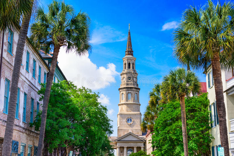 Van Zuid- Charleston Carolina stock fotografie