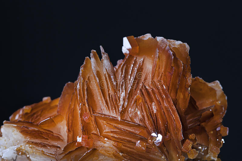 Vanadinite mineral crystals from Morocco royalty free stock image