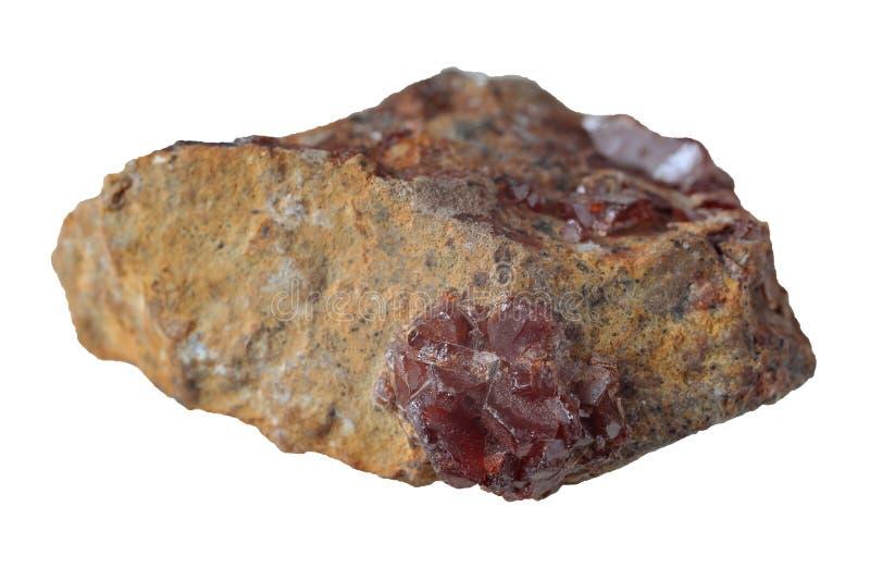 Vanadinite mineral isolated stock photos