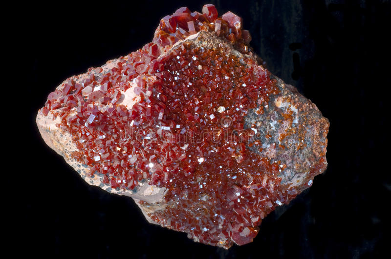 Vanadinite stone stock photo