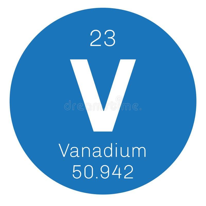 Vanadium chemisch element vector illustratie