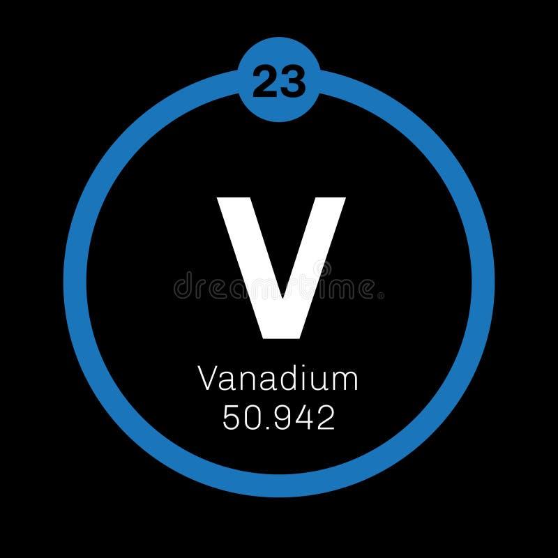 Vanadium chemisch element royalty-vrije illustratie
