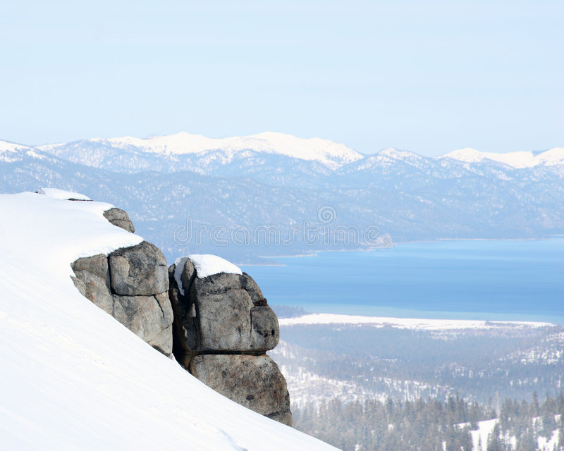 Vanaf de bovenkant van de bergen royalty-vrije stock afbeelding