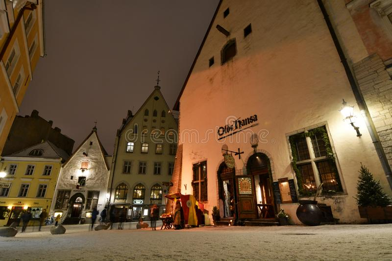 Vanaturu Kael, a street in the city old town. Tallinn. Estonia royalty free stock photo