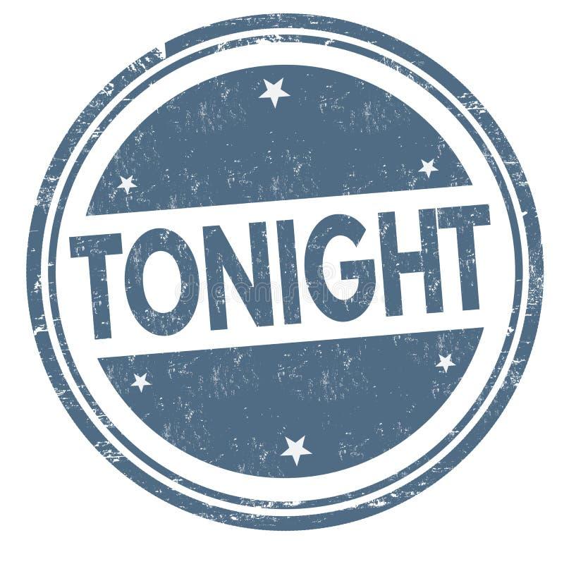 Vanavond teken of zegel vector illustratie