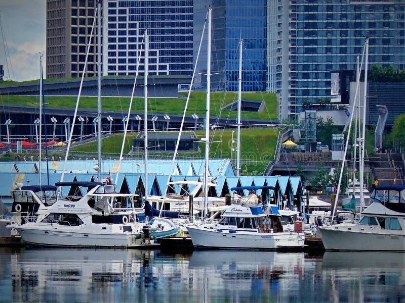 Vancôver, porto britânico da cidade de Columber foto de stock