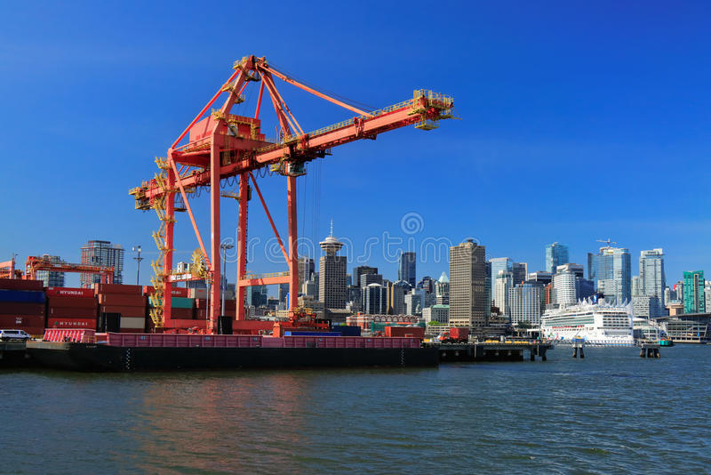 Vancôver ContainerTerminal imagens de stock royalty free