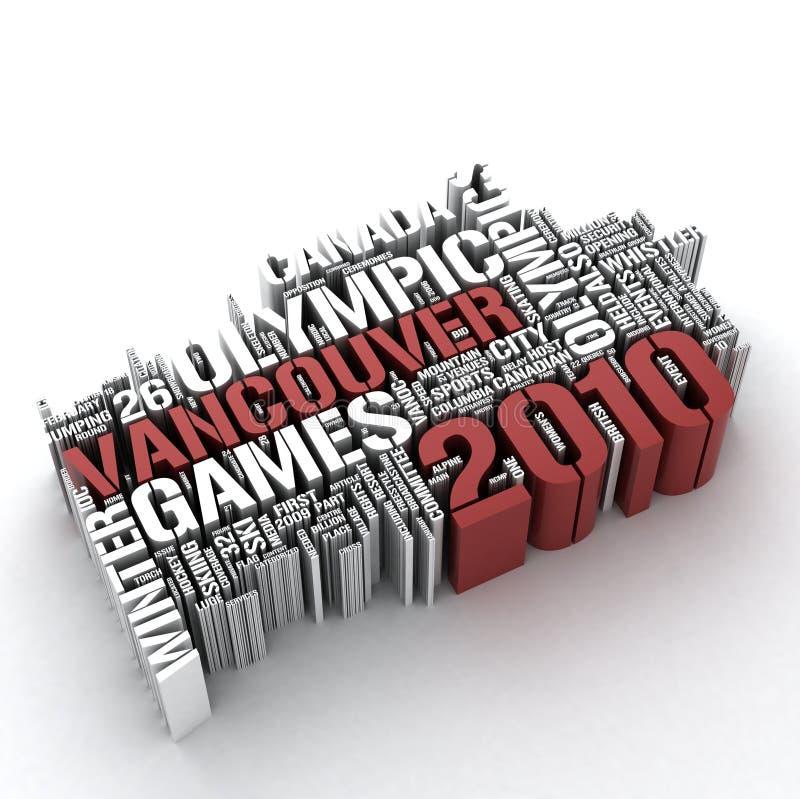 Vancouver 2010 stock de ilustración