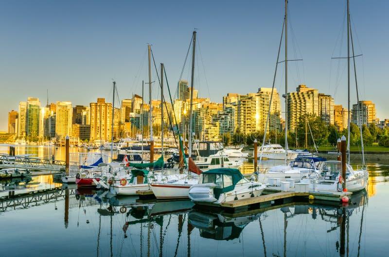 Vancouver au coucher du soleil images libres de droits