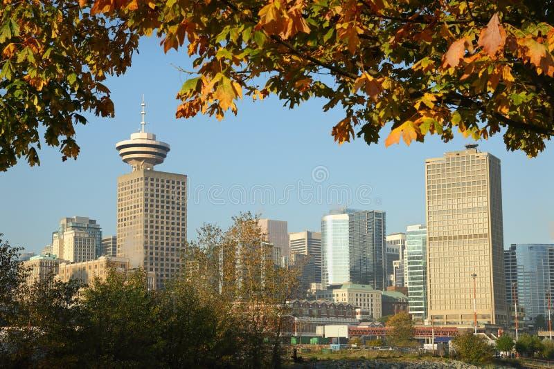 Vancouver Autumn Skyline photographie stock libre de droits