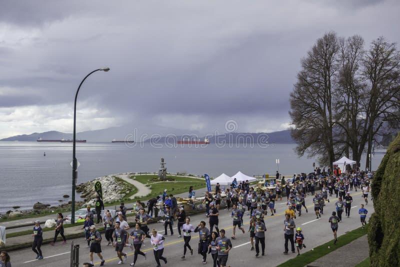 Vancouver AVANT JÉSUS CHRIST Canada, avril 2019 Course 2019 du soleil de Vancouver photos libres de droits