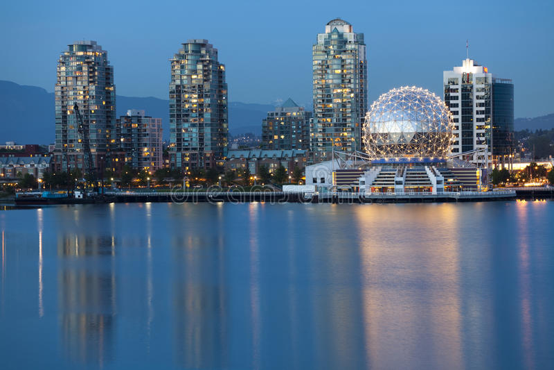 Vancouver B.C., Kanada-Skyline, Skyline lizenzfreies stockbild
