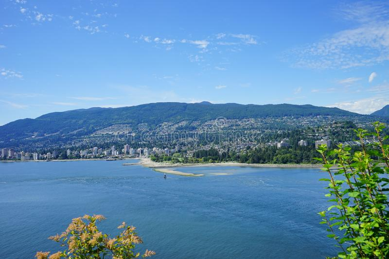 Vancouver bay and beach stock image