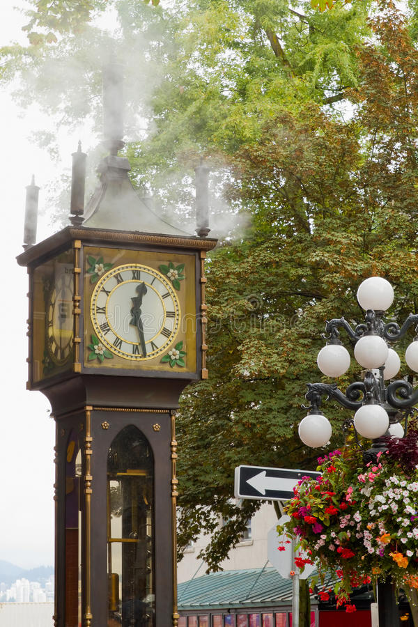 Vancouver BC Historic Gastown Steam Clock. Vancouver British Columbia Canada Historic Gastown Steam Clock royalty free stock photos