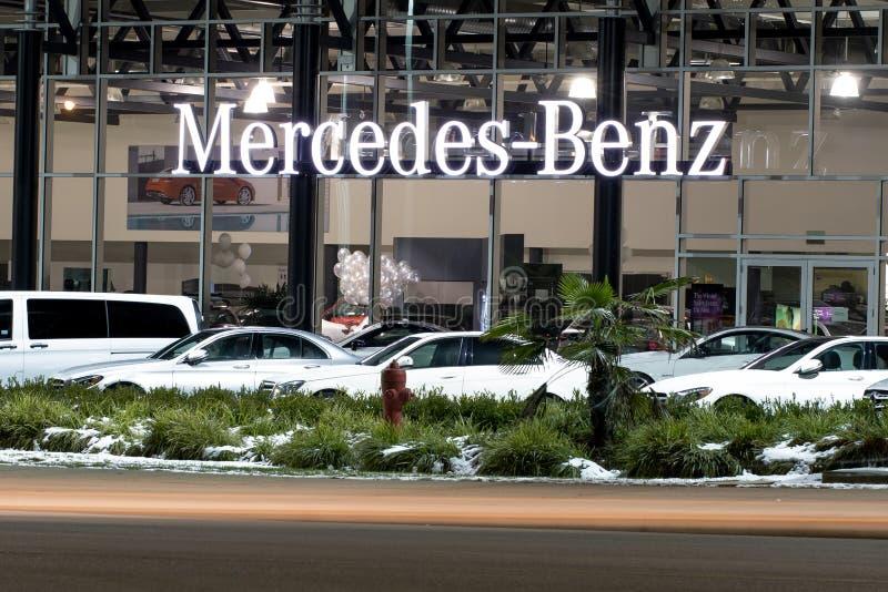 Vancouver BC, il Canada - 9 gennaio 2018: Ufficio del commerciante ufficiale BMW BMW è un costruttore di macchine tedesco che si  fotografia stock libera da diritti