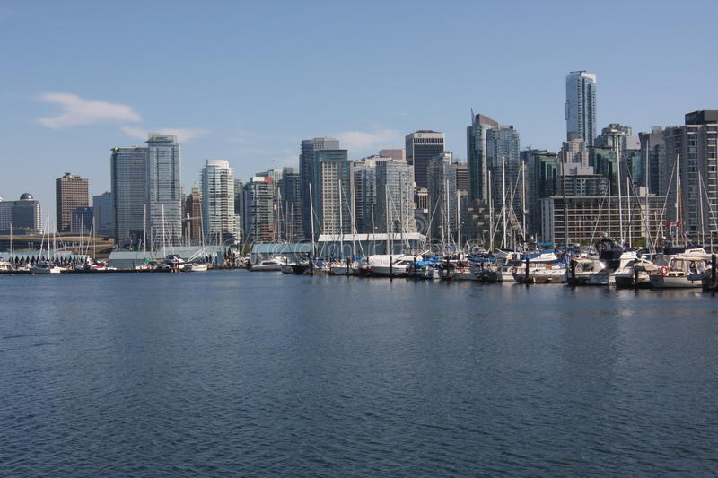 Vancouver BC Skyline on the East Side. royalty free stock photography
