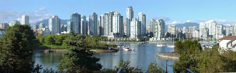 Vancouver BC skyline at False creek. stock photo