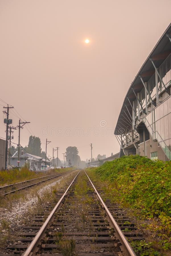 Vancouver during the BC Wildfires royalty free stock photo
