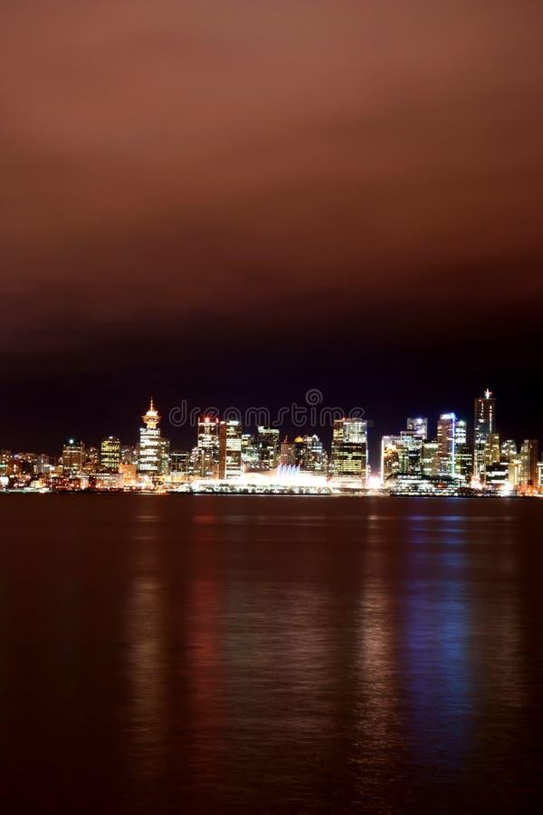 Vancouver bij Nacht royalty-vrije stock foto's