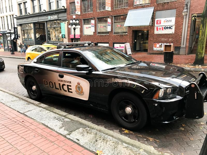 Vancouver-Britisch-Columbia überwacht Kreuzer polizeilich stockfotografie