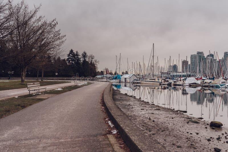 Vancouver, Britisch-Columbia/Kanada - 24. Dezember 2017: Ansicht zu S lizenzfreies stockfoto